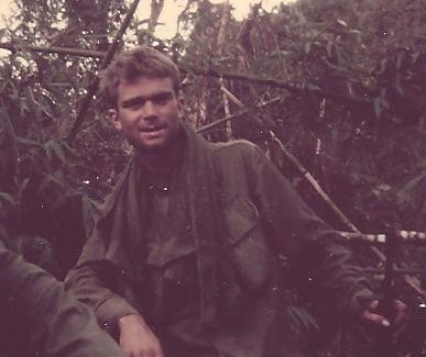 Joe Alward in Vietnam jungle